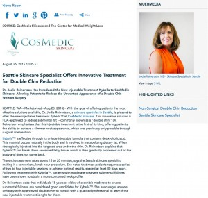 skincare specialist in seattle,cosmedic skincare,kybella,dr reinertson